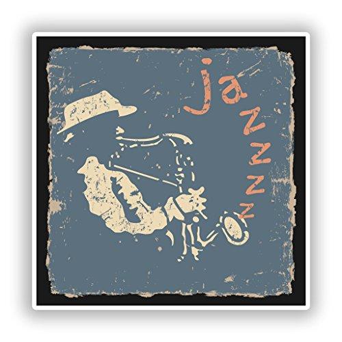 2x Jazz Vinyl Aufkleber Reise Gepäck # 10286Ausstecher für Teigwaren - 10cm/102mm Wide