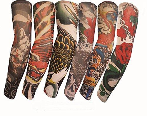 HaimoBurg 6-tlg. Set Biest Tattooärmel Armstrümpfe Körperkunst Temporäre Gefälschte