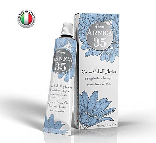 Arnica 35 - LA PIÙ CONCENTRATA - Crema Gel all'Arnica concentrata al 35% - ELIMINA EMATOMI - RIDUCE GONFIORI, DOLORI MUSCOLARI E ARTICOLARI - DISPONIBILE NUOVO FORMATO CONVENIENZA 75ml