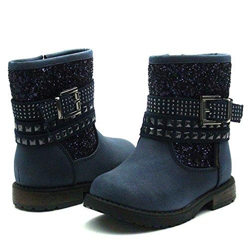 SB110 Studio BIMBI Baby Boots w/zip Mid Calf for Girls >      > Bébé milieu des bottes avec zip pour les filles Blue (bleu)