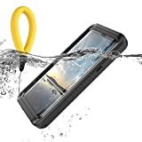 Samsung Galaxy S9 Plus Case Teléfono Móvil Funda impermeable transparente Clear Outdoor antigolpes IP68 Certificación bajo agua Full Sealed kristallklarem funda móvil Waterproof Back Cover Funda, Schwarz+Buoyant cotton