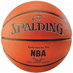 SPALDING - NBA SILVER OUTDOOR SZ.7 (83-494Z) - Ballons de basket NBA - Touché et Contrôle améliorés - Matière Durable - orange