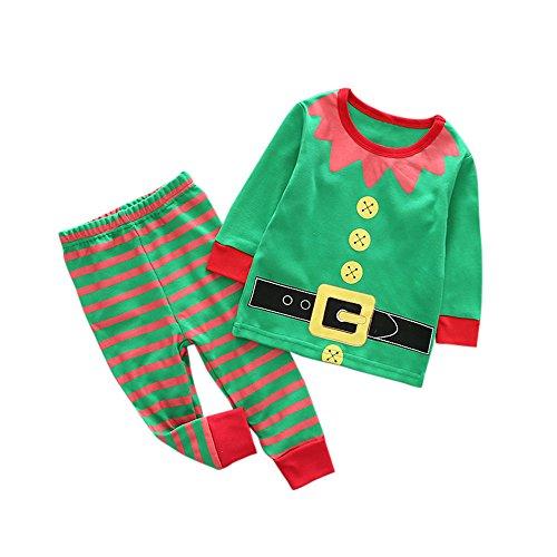 KINGWani ❤ Kleinkind Kind Baby Mädchen Junge Weihnachten Outfits Kleidung Print T-Shirt Tops + Hose Set, für Kleinkind Kind langärmelige Kleidung Anzüge
