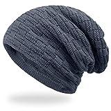 ANVEY Slouch Beanie Hat Berretti in Maglia Cappello Invernale Unisex Caldo Cappello per Sci/Bici/Moto grigio