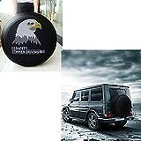 SMKJ Eagle Auto Reifentaschen Reifen Schutzhülle Reifencover Wasserdicht Reserveradabdeckung Gr.15'' für alle Reifentypen ca. 70-75cm/27-29