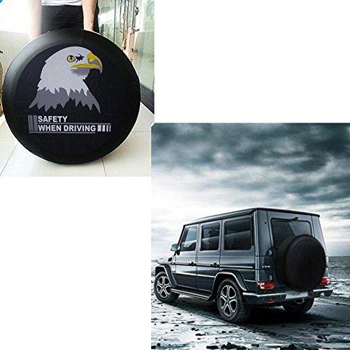 """SMKJ Eagle Auto Reifentaschen Reifen Schutzhülle Reifencover Wasserdicht Reserveradabdeckung Gr.15'' für alle Reifentypen ca. 70-75cm/27-29"""""""