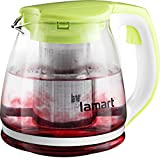 Lamart Glass teapot, Glas, Green, 12,5 x 12,5 x 14 cm