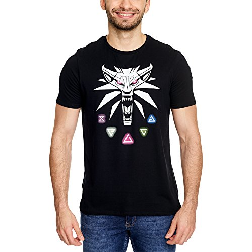 The Witcher Signs Of The Witcher Camiseta Negro L