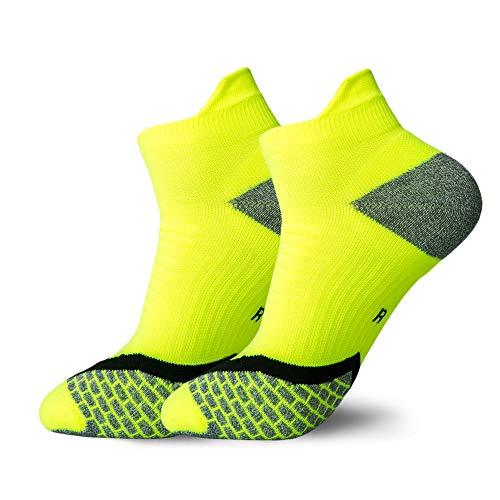WADUANRUN Calze da Basket da Uomo e da Donna Corte Calze da Basket Spesse con Fondo Asciugamano comode Calze Sportive Verde Fluorescente