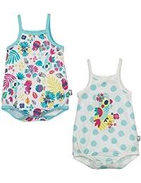 Petit Béguin - Lot de 2 bodies bébé fille à bretelles Summertime