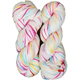M.G Enterprise Icey Magenta 200 Gm Wool Ball Hand Knitting Wool / Art Craft Soft Fingering Crochet Hook Yarn, Needle Acrylic Knitting Yarn Thread Dyed