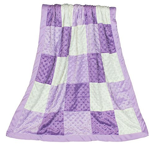 Zoe Purple Minky DOT coperta patchwork, reversibile a lavanda satin