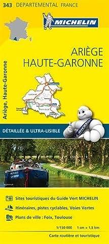 Pyrenees Michelin - Carte Ariège, Haute-Garonne