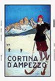 Cortina D'Ampezzo ski blechschild, tin sign, geschenk,