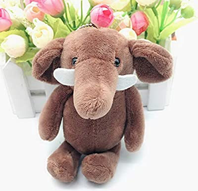 WYBL Lindo Elefante Colgante Juguetes De Felpa Kawaii Bolsa Mochila Llavero Relleno Animales De Felpa Muñecas Niños Juguetes para Los Niños Regalos 10 Cm Marrón por WYBL
