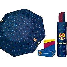 PERLETTI Paraguas antiviento Plegable FC Barcelona Fantasia 54cm Microfibra