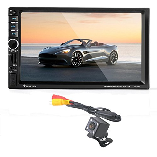2 DIN MP5 Auto Stereo, C 'est 17,8 cm Zoll Touch Screen Auto Stereo Player in Dash Audio mit Bluetooth Universal 2 DIN HD FM Radio MP5 USB TF Card Eingang AUX Receiver
