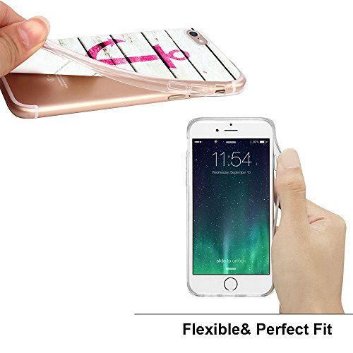 Handyhülle für Apple iPhone 7 ( Anker pink ) - Hülle - Schutzhülle mit Motiv - TPU Silikon Hülle - Case - Cover - Schale - Backcover - Handytasche Anker Pink