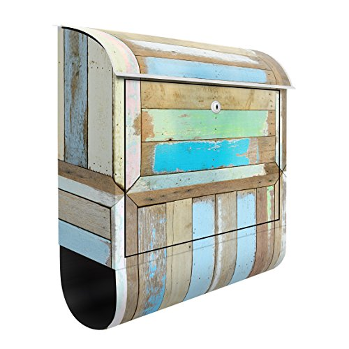 Design Briefkasten Rustikal Holz 39x 46x 13cm, Dimension: 46cm x 39cm