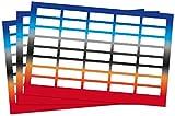 Kigima 120 edle Aufkleber Sticker Klebe-Etiketten Leer 4x1,5cm rechteckig bunt Ombre-Look, Hochzeit oder Tischdeko
