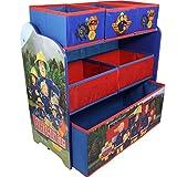 Feuerwehrmann Sam Spielzeug Aufbewahrung Regal Spielzeugkiste Kindermöbel Kinderzimmer 83304