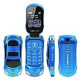 QHJ Dual Sim Outdoor Handy(1500mAh),1,8 Zoll Display,IP68 Wasserdicht,Stoßfest, Rugged Handy Ohne Vertrag mit Lautem Lautsprecher und Fahrradlicht ,TV-Empfang,Mp3/Mp4 (Blau)
