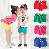 Covermason Niños Ropa Venta de liquidación Niños pequeños Bebés y niñas Pantalones cortos para niños Pantalones cortos para playa de verano de color caramelo(24M, Verde)