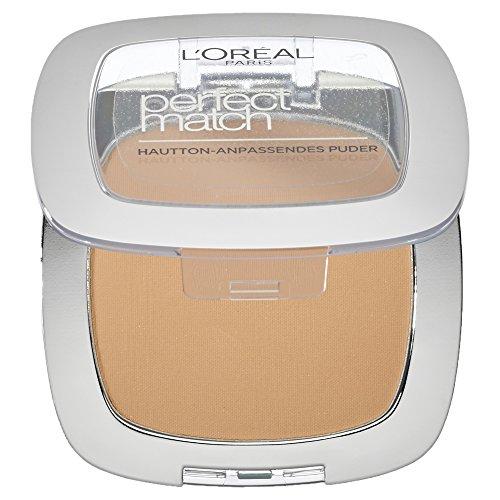 L'Oréal Paris Perfect Match Compact Puder, W3 Golden Beige / Make-Up Puder mit individueller...
