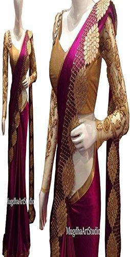 I-Brand Women's Saree (Isunsa675-Ib_Purple)