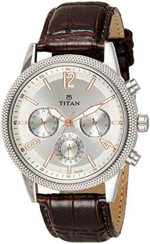 Titan Neo Analog Silver Dial Men's Watch-NK1734SL01