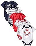 Nautica Baby-Girls Newborn 5 Pack Americana Bodysuits, Assorted, 0-3 Months