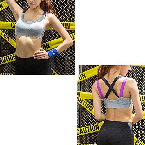 Zhhlaixing Fashion Women's Sport Yoga Bra Comfortable Fitness Exercise Vest WX19 gray
