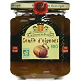 Les Comtes de Provence Confit d'Oignons Bio 230 g - Lot de 3