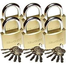 Master Lock Schlüsselschloss MAGNUM aus Messing 20mm Stahlbügel CAD20