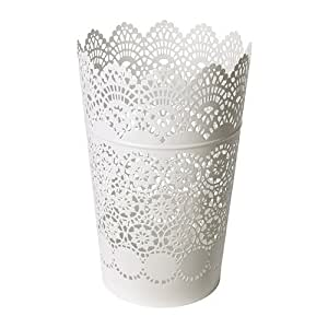 IKEA SKURAR - Lanterne pour bougie bloc, blanc - 22 cm