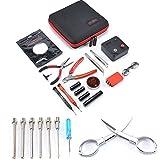 JUEYAN Coil Jig Tool Kit V3 DIY Werkzeug-Set Wickelzubehör-Set mit Coil Jig (V4)/521 Registerkarte Mini Ohm Leser/Pinzette/Bio Baumwolle/Heat Resistant Draht