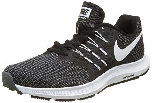Nike Herren Run Swift Laufschuhe, Schwarz (Black/White-Dark Grey), 45 EU