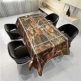 QWEASDZX Tischdecke Polyestergewebe Moderne Mode Individuelle Vintage-Tischdecken Umweltschutz Ölbeständig und wasserdicht Geeignet für den Innen- und Außenbereich 140x240cm