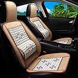 WVVU Auto-Massagesitz, Einteiliger Atmungsaktiver Sandwich-Autositz, Taillenmassage Für Auto/Büro/Familie (2Er-Pack),Weiß