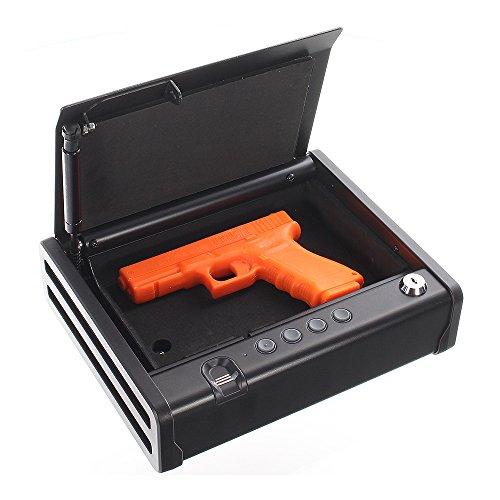 Rottner Pistolenkassette Gunmaster 1, Fingerabdruck-Scanner, Waffenkassette, Finge...