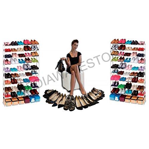 Zapatero 50 pares de zapatos organizador del armario para ahorrar espacio