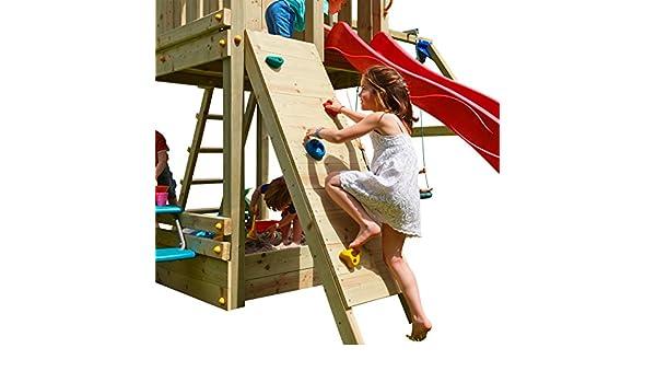 Klettergerüst Cleverclimber Club Xxl : Kletterwand mit klettersteinen holzpaket imprägniert anbau spielturm