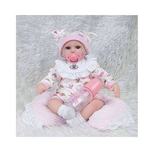 Kostüm Mädchen Marionetten - ADATEN Nährende Puppen Reborn Babypuppe Emulation Handarbeit Tuch Körper Weiches Silikon Schönes Kostüm 45 cm Simulation Aufwachsen Partner Spielzeug schönes Mädchen