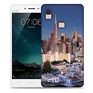 Snoogg Colorful Buildings Designer Protective Phone Back Case Cover For Vivo V3 Max