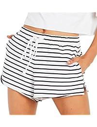 f889e0405944 Bekleidung Longra❤ ❤ Longra Kurze Hosen Damen Sommer Shorts High Waist  Sport Leggings Sporthosen Kurze Shorts Hotpants Schlafhose…