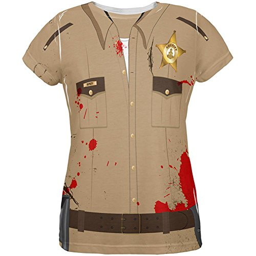 Halloween Zombie Grime Sheriff Walker Allover-Damen-T-Shirt Multicoloured
