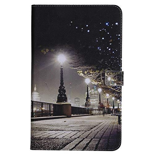 Funluna Hülle für Samsung Galaxy Tab A 10.1, Dünne Case Automatische Ruhe-/Aufwachfunktion Schutzhülle mit Gummibeschichtete Rückseite für Samsung Galaxy Tab A 10.1 Zoll SM-T580/T585, London
