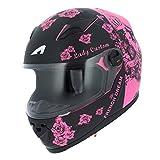 Astone Helmets gt2g-ladyc-bpm Motorradhelm GT Lady Custom, schwarz/rosa, Größe M