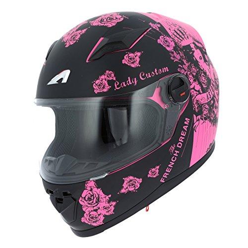 Astone Helmets gt2g-ladyc-bpm casco Moto Integral GT Lady Custom,...