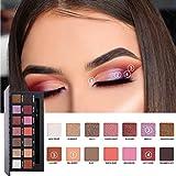hkfv 2018Nueva Moda encantador elegante diseño de color 14colores sombra de ojos Set, Pearl metálico de maquillaje paleta de sombra de ojos maquillaje de ojos Decor, Set B, 17.4cm*8cm